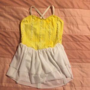 Other - Girls Yellow Ombré & white ballet leotard
